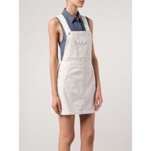 Alexa Chung x AG Gillian White Overall Dress